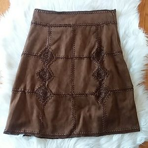 Sued Zara Skirt